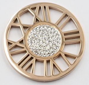 High-End Fashion 316L Stainless Steel Locket Pendant Jewelry with Prong Setting Stones pictures & photos