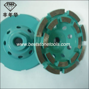 Cw-6 Segment Double Row Diamond Cup Grinding Wheel for Concrete