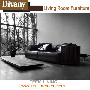 Modern Living Room Furniture Fabric Leather 3 Seat Sofa pictures & photos