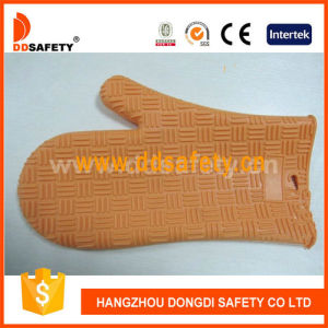 Heat Resistant Glvoe Orange Silicone Oven Glove Dsr322 pictures & photos