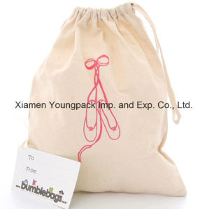 Custom 100% Natural Cotton Travel Canvas Drawstring Shoe Bag pictures & photos