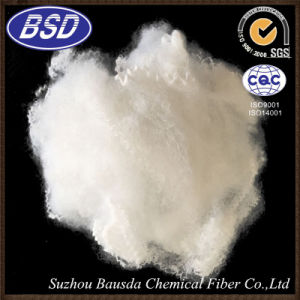 Suzhou Bausda Pet Bottles Regenerated Polyester Staple Fiber PSF in White Color
