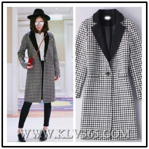 2016 Latest Design Women Fashion Winter Wool Long Coat