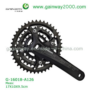 Gw-16018-A126 Black Bike Chainwheel/Bicycle Sapre Parts of Chainwheel