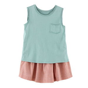 100% Cotton Sleeveless Kids Clothes Girls Clothing for Summer pictures & photos