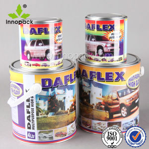 Hot Sale Colorful Printed Metal 5 Liter Can with Plastic Handle pictures & photos