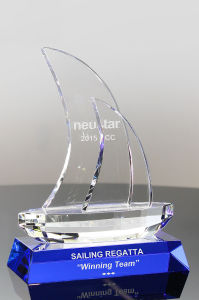 Sailing Into Success Optic Crystal Sailboat for Recognition Ideas pictures & photos