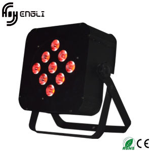 9PCS*10W Grbw 4in1 LED PAR Can for Stage Dyeing Effect pictures & photos
