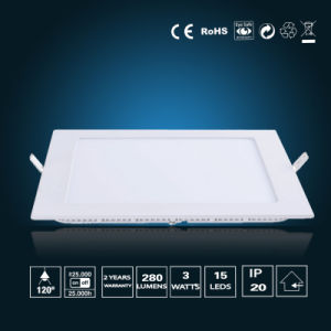 3W LED Panel Light 85*85*16mm pictures & photos