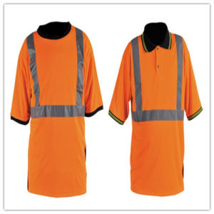 High Visible Working Safety Jacket with Reflective Strip pictures & photos