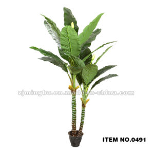 Artificial Bonsai Green Leaves 0491