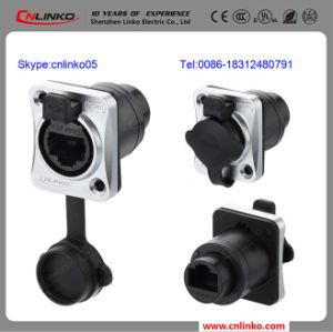 IP65 Waterproof Male and Female RJ45 Connector with Dust Cap Cover pictures & photos