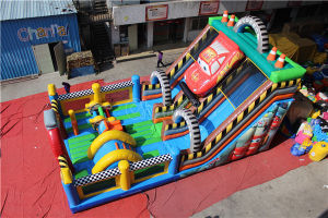 Giant Car Inflatable Obstacle Course Combo with Slide Chob550 pictures & photos