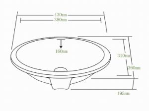 Ceramic Basin, Porcelain Sink, Under Mount Sink with Cupc (SN004) pictures & photos
