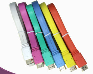 1080P HDMI Cable Flat Design, Various Color Available pictures & photos