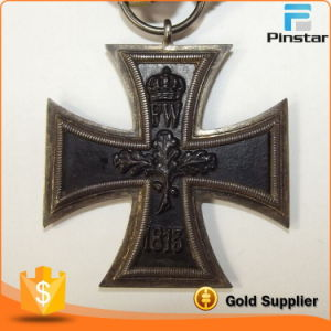 Die Struck 3D Metal Iron Cross Medal with Black Soft Enamel pictures & photos
