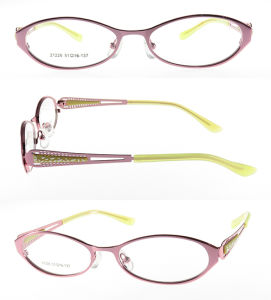 Metal Optical Frame with Double Color Laser on Temples pictures & photos