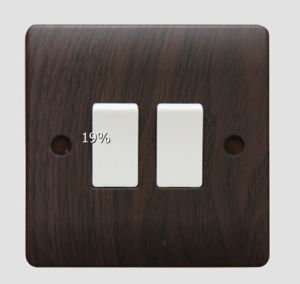 V304 10AMP 2gang 2way Switch Plate Wood Grain pictures & photos