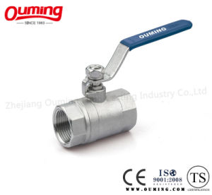 2PC Stainless Steel Reduced Bore Ball Valve with ISO 9001 (OEM) pictures & photos