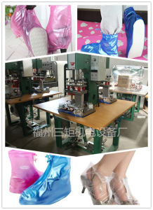 PVC High Frequency Welding Machine to Weld Shoe Cover pictures & photos