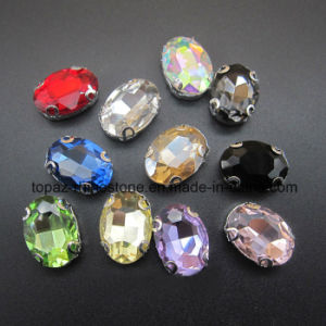 Flat Back Sew on Rhinestone Glass Rhinestone for Wedding Shoes (SW-Navette 13*18mm) pictures & photos