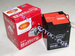 Yog Power Supply Motorcycle Conventional Rechargeable Battery 6n4-BS pictures & photos