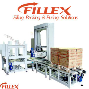 Full-Automatic Carton Low Bed Palletizer in Filling Machine Line pictures & photos