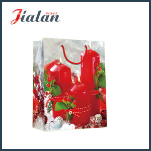 Customize Glossy Laminated with Christmas Candles Art Paper Gift Bag pictures & photos
