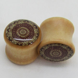 Wood Earrings Plug Body Jewelry Tunnels