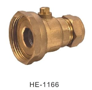 (HE-1166) Brass Ball Valve Pn25 with Wing Handle for Water, Oil pictures & photos