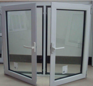 45 Series White Color Aluminum Alloy Casement Windows