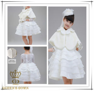Wool Jacket Lovely Sweet Bride Flower Girl Dress, Factory Direct pictures & photos