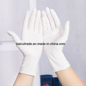 White Disposable Nitrile Rubber Gloves Medical White Oil Resistant Gloves pictures & photos