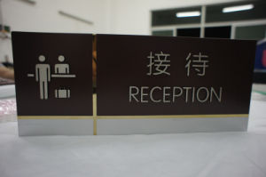 Indoor Stainless Steel Panel Etched Reception Sign with Paint pictures & photos