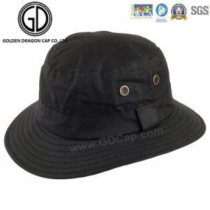 Classic Green Camo Waterproof Fisherman Zipper Bucket Hat with Pocket pictures & photos