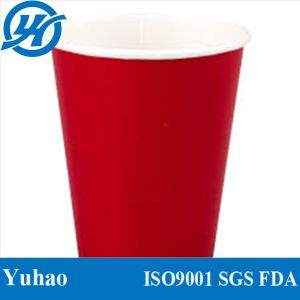 Red Disposable Cold Drinking Paper Cups pictures & photos
