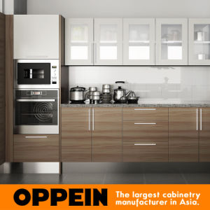 Oppein Hot Sale Kenya Project Melamine Wooden Kitchen Cabinets (OP15-M04) pictures & photos