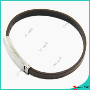 Fashion Jewelry Simple Black Genuine Leather Bracelet (LB) pictures & photos