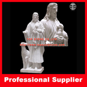 Jesus with Lamb Marble Statue Marble Sculpture God Sculpture pictures & photos