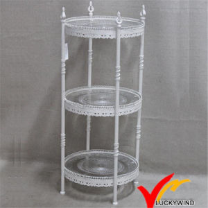 Vintage 3 Tier Metel Storage Stand for Cupcake and Cake pictures & photos
