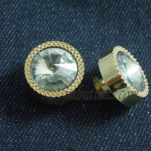Fancy New Designs Rhineston Crystal Metal Button pictures & photos