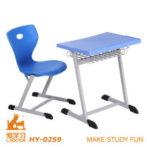 Steel Tube Frame High Quality Classroom Table and Chair Set pictures & photos