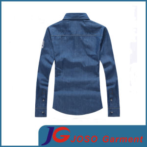Casual Slim Long Sleeve Denim Shirt for Men (JC7044) pictures & photos