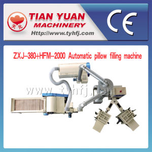 Automatic Pillow Filling Machine (ZXJ-380+HFM-2000) pictures & photos