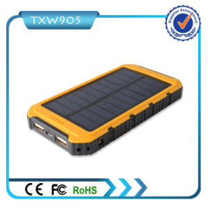 2016 Best Quality High Capacity Solar Power Bank 10000mAh Mobile Power Supply for Smart Phones pictures & photos