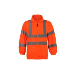 Hi Vis Hooded Reflective Hooded Sweatshirt 100% Polyester Fleece