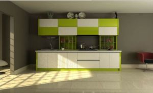 High Glossy PVC Kitchen Cupboard pictures & photos