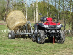 Universal ATV/UTV/Quad/ Buggy/Small Tractor/Side X Side Tow-Behind Bale Trailer with CE, Max Load 500kgs pictures & photos