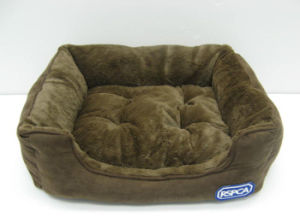 Rectangle Bolster Pet Bed with Removable Cushion
