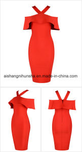 Party Dress Red Black White Celebrity Women Bandage Dress pictures & photos